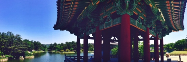 One of the three pavilion's at Anapji