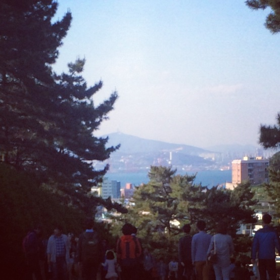 Looking at Busan from Taejongdae Park